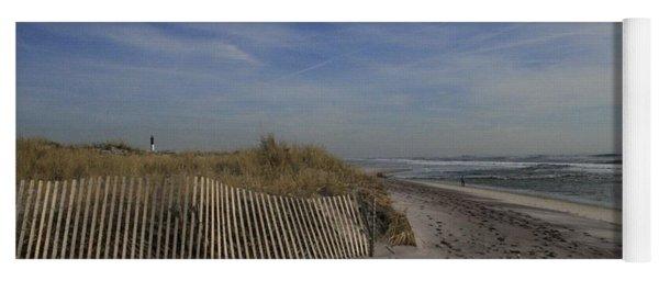 Fire Island Dune Fence Yoga Mat