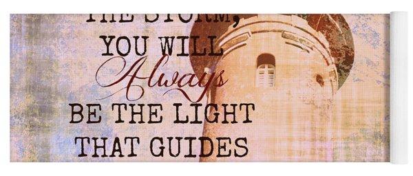 Fire Island Light House Poem 3 Yoga Mat