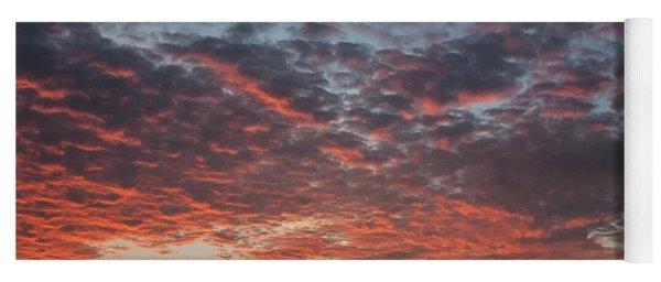 Fire Sky Yoga Mat