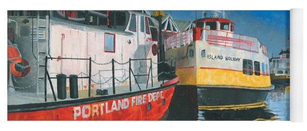 Fireboat And Ferries Yoga Mat