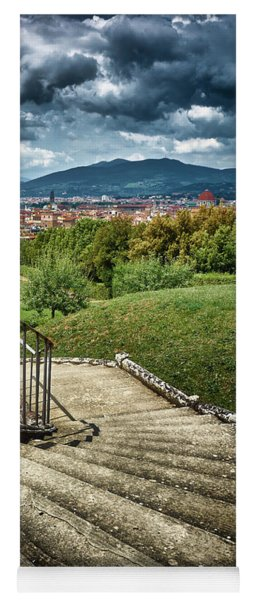 Firenze From The Boboli Gardens Yoga Mat