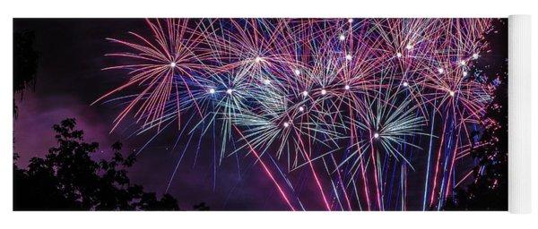 Fireworks 2 Yoga Mat