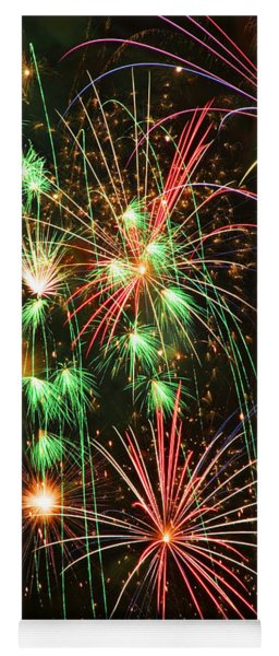Fireworks 4th Of July Yoga Mat