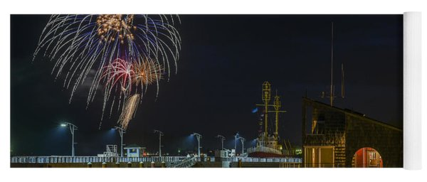 Fireworks And 17th Street Docks Yoga Mat