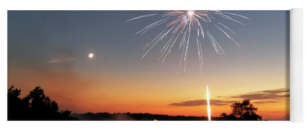 Fireworks And Sunset Yoga Mat