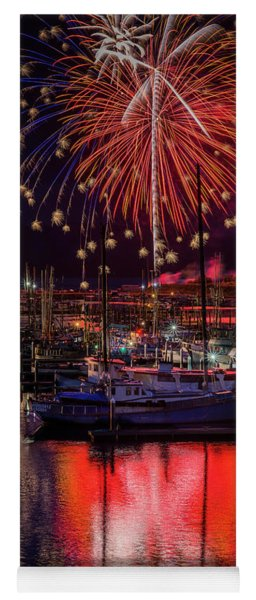 Fireworks At The Docks Yoga Mat