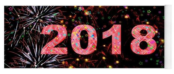 Fireworks Happy New Year 2018   Yoga Mat