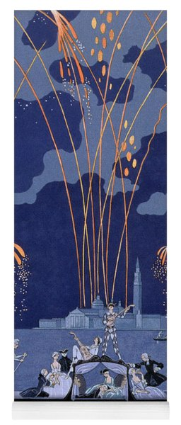 Fireworks In Venice Yoga Mat