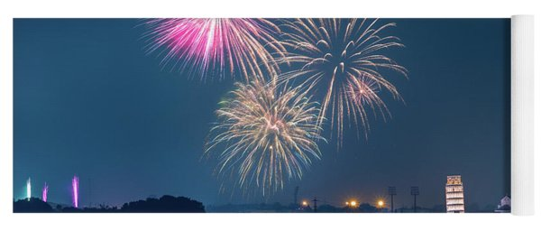 Fireworks Over Pisa Yoga Mat