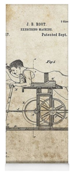 First Exercise Machine Patent Yoga Mat