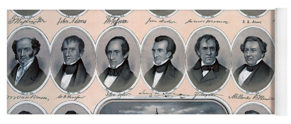 First Hundred Years Of American Presidents Yoga Mat