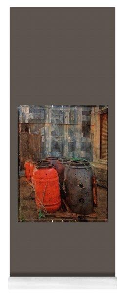 Yoga Mat featuring the photograph Fish Barrels by Thom Zehrfeld