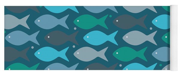 Fish Blue  Yoga Mat