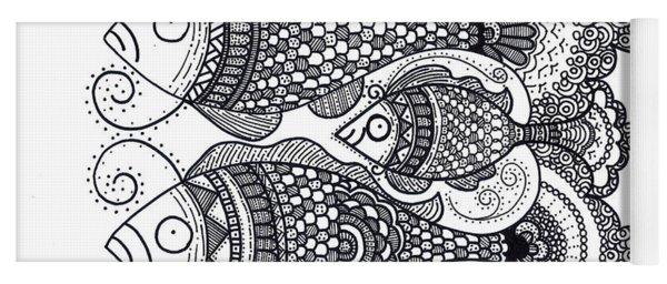 Fish Family Yoga Mat