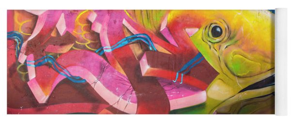 Fish Mural In Lisbon Yoga Mat