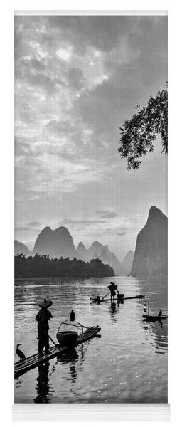 Fishermen At Dawn. Yoga Mat