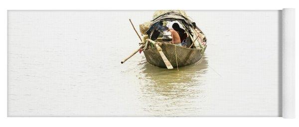 Fishermen On The Lower Ganges Yoga Mat