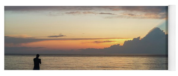 Fishing At Sunset Yoga Mat