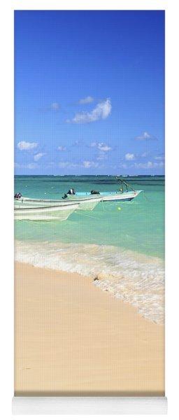 Fishing Boats In Caribbean Sea Yoga Mat