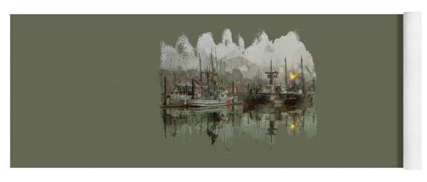 Fishing Fleet Dock Five Yoga Mat