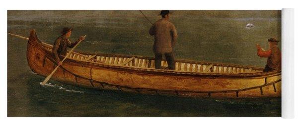Fishing From A Canoe Yoga Mat