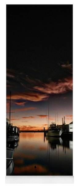 Fishing Harbor At Dawn Yoga Mat