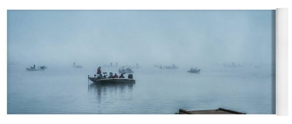 Fishing In The Fog Summersville Lake  Yoga Mat