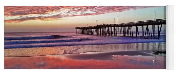 Fishing Pier Sunrise Yoga Mat