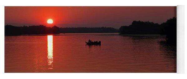 Fishing Until Sunset Yoga Mat