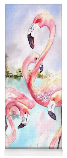 Five Flamingos Yoga Mat