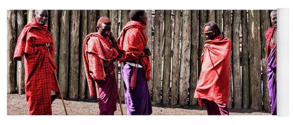 Five Maasai Warriors Yoga Mat