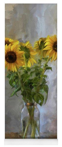 Five Sunflowers Centered Yoga Mat