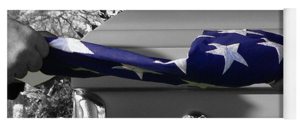 Flag For The Fallen - Selective Color Yoga Mat