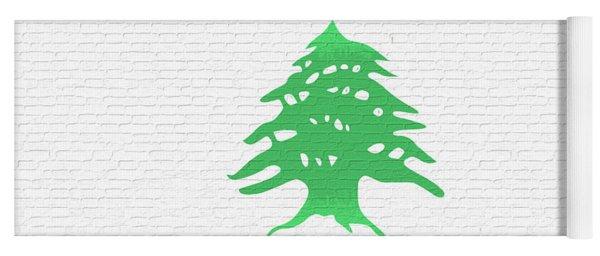 Flag Of Lebanon Wall Yoga Mat