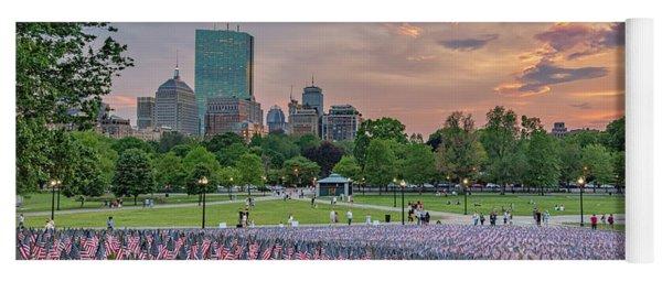 Flag Sunset On Boston Common Yoga Mat