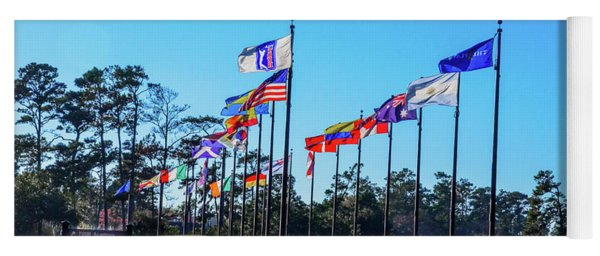 Flags Of Tpc Sawgrass Yoga Mat