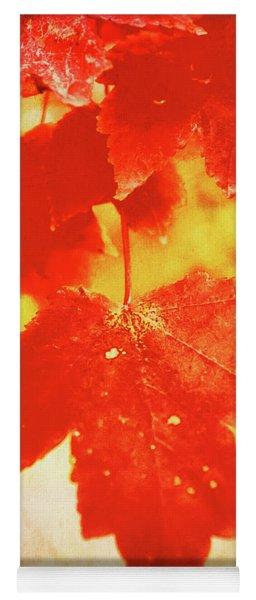 Flaming Autumn Yoga Mat