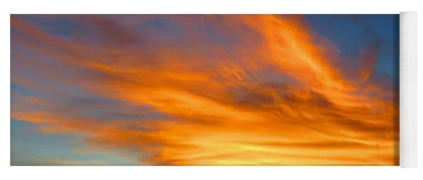 Flaming Hand Sunset Yoga Mat
