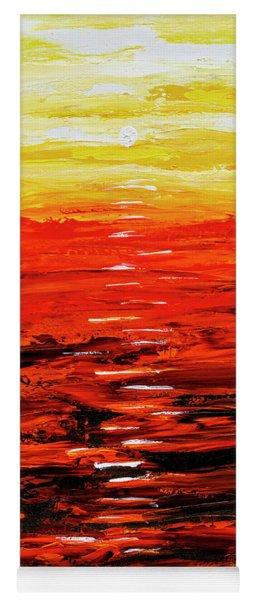 Flaming Sunset Abstract 205173 Yoga Mat