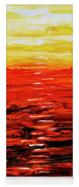 Flaming Sunset Abstract 205173 Yoga Mat