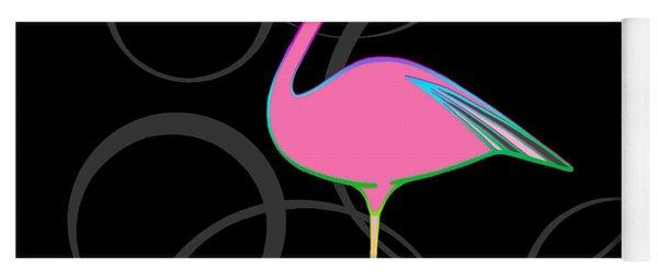 Flamingo Bubbles No 1 Yoga Mat