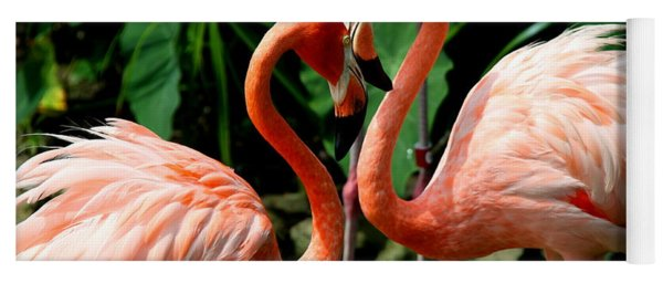 Flamingo Heart Yoga Mat