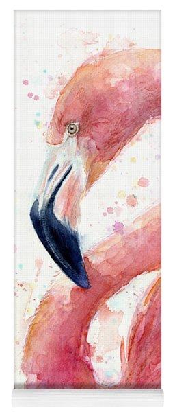 Flamingo Watercolor Painting Yoga Mat