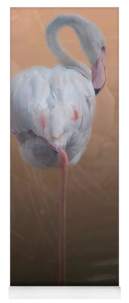 Flamingo With Overlay Yoga Mat