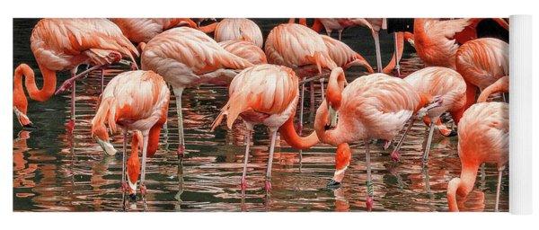 Flamingo Looking For Food Yoga Mat
