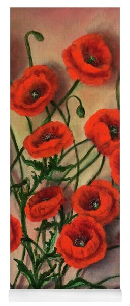 Flander Poppies Yoga Mat