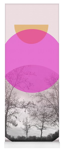 Flare In Pink And Yellow- Art By Linda Woods Yoga Mat