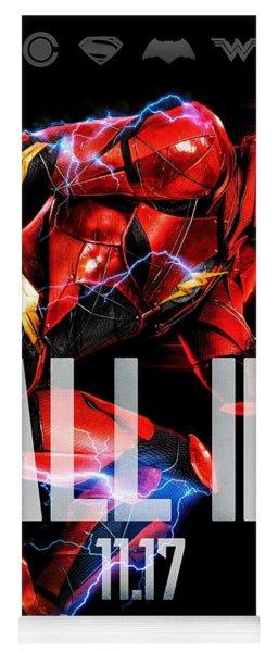 Flash Poster Justice League Yoga Mat