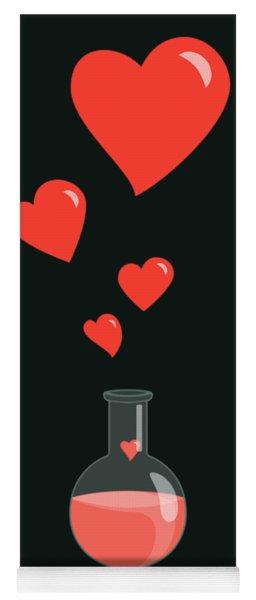 Flask Of Hearts Yoga Mat