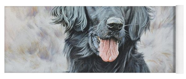 Flat Coated Retriever Portrait Yoga Mat